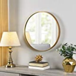 FirsTime & Co. Gold Beckham Round Mirror, American Crafted, Gold, 22 x 1.75 x 22 , | Amazon (US)