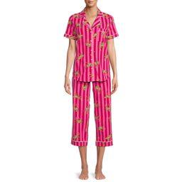 Secret Treasures Women's Plus Traditional Short Sleeve Notch Collar Pajamas Set   Walmart (US)