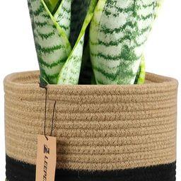 "LEEPES Jute Rope Plant Basket Modern Woven Basket for 10"" Flower Pot Floor Indoor Planters,Storag... | Amazon (US)"