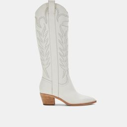 SOLEI STUD BOOTS IN OFF WHITE LEATHER | DolceVita.com