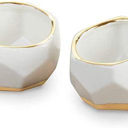 Kate Aspen 23216NA Geometric Ceramic Planters Decorative Bowls (Set of 2) Trinket Dish, Home, Roo... | Amazon (US)