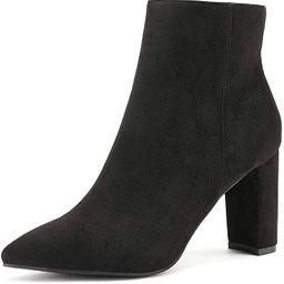 DREAM PAIRS Women's Chunky High Heel Ankle Booties | Amazon (US)