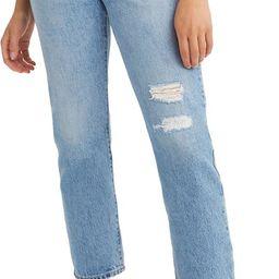 501® Distressed Crop Jeans | Nordstrom