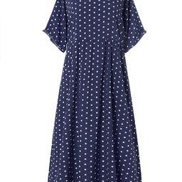 ZANZEA Womens Polka Dot Short Sleeve Long Dresses Baggy Kaftan Maxi   Walmart (US)