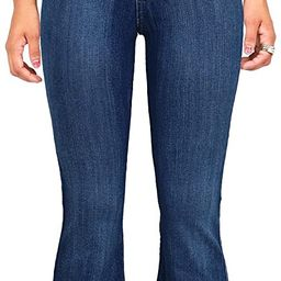 Vibrant Women's Juniors High Rise Button Fly Flare Jeans | Amazon (US)