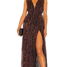ROCOCO SAND Aine Maxi Dress in Brown from Revolve.com   Revolve Clothing (Global)