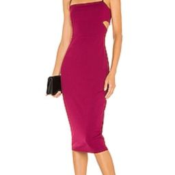 Susana Monaco Cutout Strap Solid Dress in Raspberry from Revolve.com   Revolve Clothing (Global)