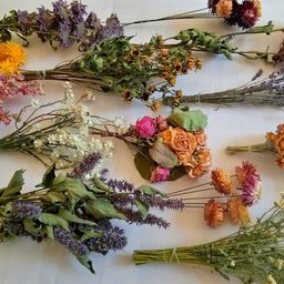 14 Mini Dry Flower Bouquets-Dry Flowers for Crafting-Short Stem Dried Flowers-Dry Flowers for Res... | Etsy (US)