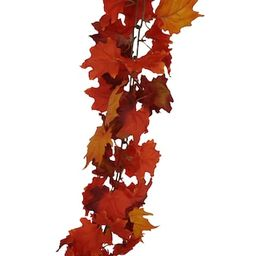 6ft. Mixed Orange Maple Leaf Chain Garland by Ashland® | Michaels Stores