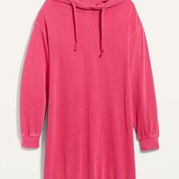 Hooded Long-Sleeve Sweatshirt Shift Dress for Women | Old Navy (US)