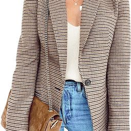 BLENCOT Casual Blazers Long Sleeve Open Front Work Jackets Blazer Summer Office Blazers | Amazon (US)