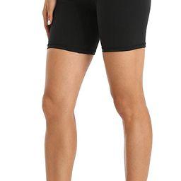 "YUNOGA Women's High Waisted Yoga Short 6"" Inseam Workout Athletic Biker Shorts   Amazon (US)"