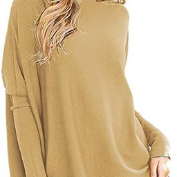 LIYOHON Women's Tunic Tops for Leggings Plain Oversized Shirts Batwing Long Sleeve Fall Loose Fit...   Amazon (US)