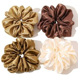 Scrunchies Hair Ties for Women - Big Silk Satin Scrunchie Exra Large Jumbo Gaint Oversized Cute S... | Amazon (US)