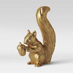 "6.2"" x 4.6"" Standing Harvest Squirrel Figurine Gold - Threshold™   Target"