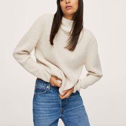 Hooded knit sweater -  Women | Mango USA | MANGO (US)