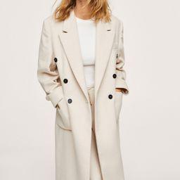 Double-breasted coat -  Women | Mango USA | MANGO (US)