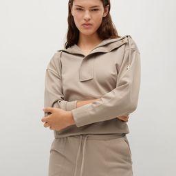Zipped hoodie -  Women | Mango USA | MANGO (US)