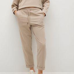Cotton jogger-style trousers -  Women | Mango USA | MANGO (US)