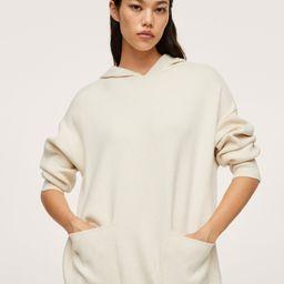 Oversized sweatshirt with pockets -  Women | Mango USA | MANGO (US)