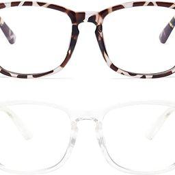 livho 2 Pack Blue Light Blocking Glasses, Computer Reading/Gaming/TV/Phones Glasses for Women Men...   Amazon (US)