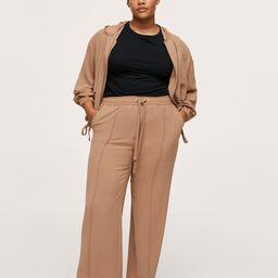 Elastic waist pants -  Women | Mango USA | MANGO (US)