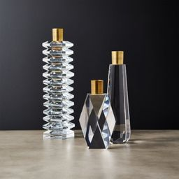 Cosette Crystal Taper Candle Holders | CB2 | CB2