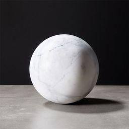 White Marble Sphere + Reviews | CB2 | CB2