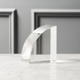 Crystal Glass Bookend + Reviews | CB2 | CB2