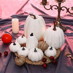 VIGEIYA Artificial White Pumpkins Table Decor Farmhouse Assorted Realistic for Thanksgiving Hallo...   Amazon (US)