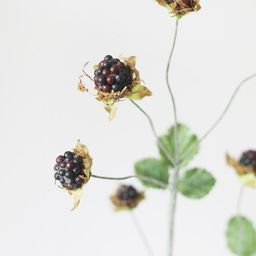 "Artificial Wild Raspberry Berries in Plum - 27""   Afloral (US)"