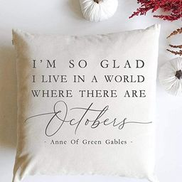 wonbye I'm So Glad I Live in A World Where There are Octobers,Modern Patterns,Decorative Sofa Cus...   Amazon (US)
