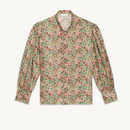 Floaty printed silk shirt | Sandro Paris (US)