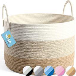 OrganiHaus XXL Cotton Rope Blanket Basket   Rope Storage Baskets for Organizing   Rope Laundry Ba...   Amazon (US)