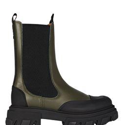 Leather Lug Sole Combat Boots | INTERMIX