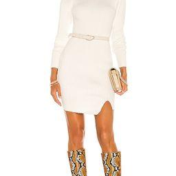 Mini Rib Knit Dress in Ivory | Revolve Clothing (Global)