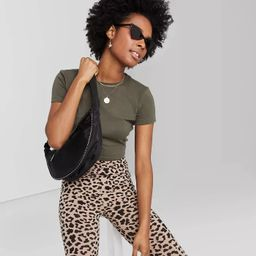 Women's Short Sleeve Cropped T-Shirt - Wild Fable™   Target