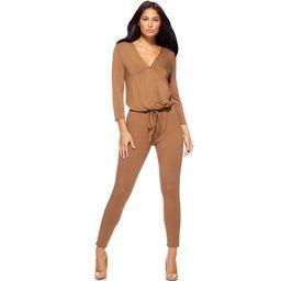 Sofia Jeans by Sofia Vergara Women's Long Sleeve V-Neck Jumpsuit   Walmart (US)