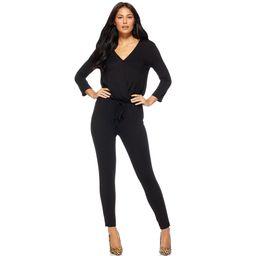 Sofia Jeans by Sofia Vergara Women's Long Sleeve V-Neck Jumpsuit | Walmart (US)