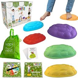 Hapinest Turtle Steps Balance Stepping Stones Obstacle Course Coordination Game for Kids - Indoor...   Amazon (US)