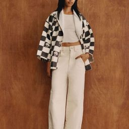 BDG High-Waisted Wide Leg Jean – Ecru   Urban Outfitters (US and RoW)
