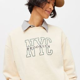 Embroidered Destination Crew Neck Sweatshirt   Urban Outfitters (US and RoW)