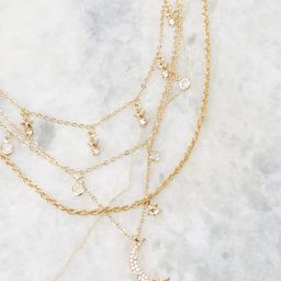 Perfect Alignment Gold Layered Necklace | Red Dress