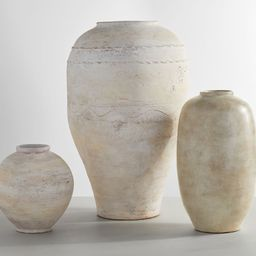 Artisan Hand Painted Terra Cotta Vase Collection - White | Pottery Barn (US)