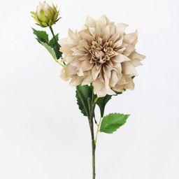 """Dahlia Silk Flower in Taupe - 19.5""""   Afloral (US)"""