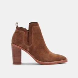 SIRANO BOOTIES IN DK BROWN SUEDE | DolceVita.com