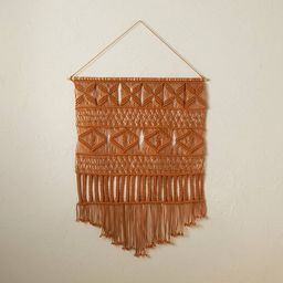 """25"""" x 35"""" Macrame Wall Hanging Brown - Opalhouse™ designed with Jungalow™ 