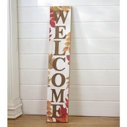 Lakeside Autumn Welcome Sign with Fall Leaves - Farmhouse Front Door Harvest Decoration | Target