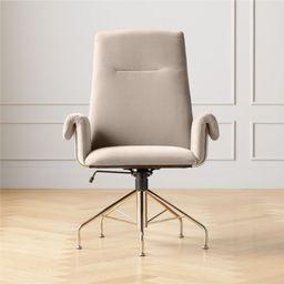 Saviti Bone Velvet Office Chair | CB2 | CB2