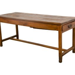 19th Century Antique Country French Farmhouse Oak Trestle Dining Table W/ One Drawer   Etsy (US)